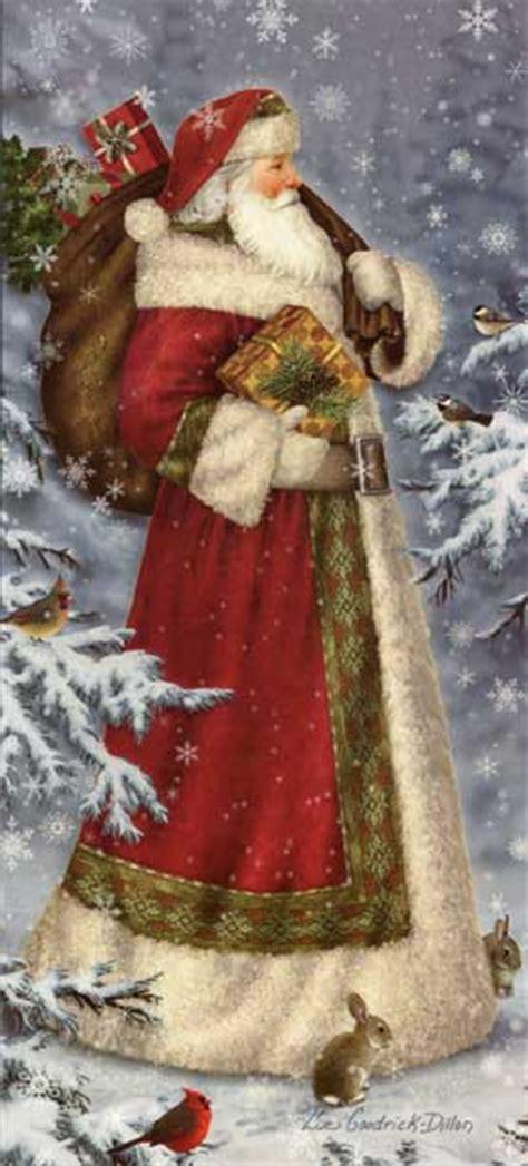 world santa christmas card  lpg