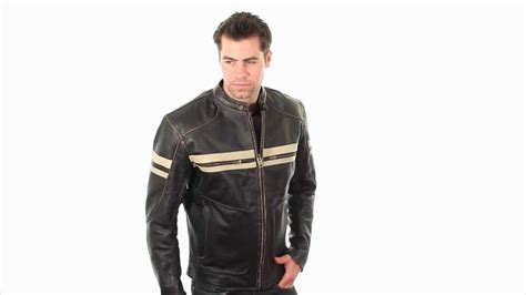 Bxu165250 Xelement Men's Brown Leather Cruiser Jacket At