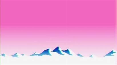 Vaporwave Mountains Glitch Background Wallpapers Aesthetic Desktop