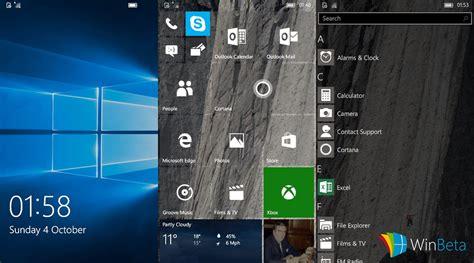 windows  mobile screenshots einer neuen insider build