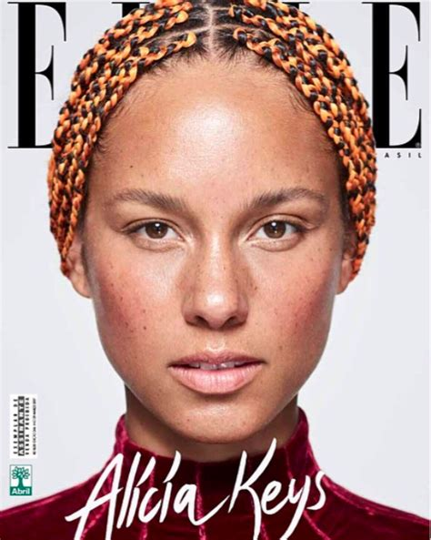 alicia keys     beauty products   face   cover  elle brazil