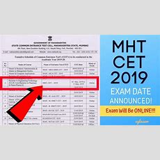 Mht Cet 2019 Exam Date Announced; Exam Will Be In Online Mode (mahacetorg) Youtube