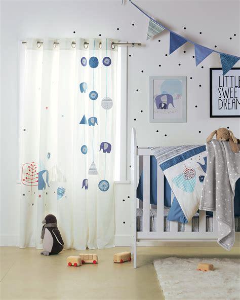chambre bébé safari rideaux quot blue safari quot chambre bébé babyspace