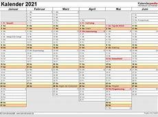 Kalender 2021 Word zum Ausdrucken 16 Vorlagen kostenlos