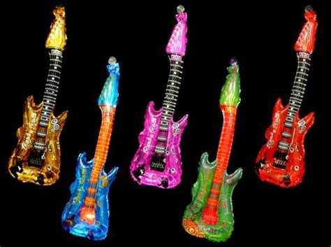 Deko Rock N Roll by Aufblasbare Folien Luftgitarren Rock N Roll Alle Farben