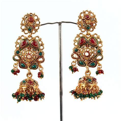 fashion club jhumka earrings  gold designs