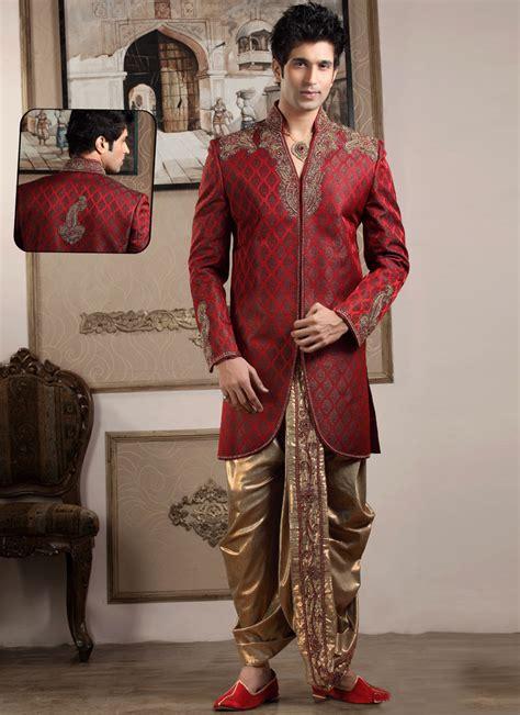 indian wedding essentials maroon black sherwani