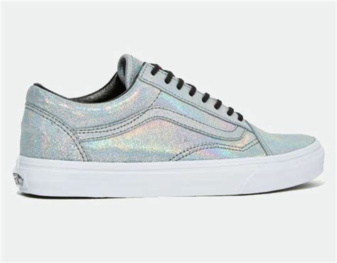 Vans, Iridescent, Holographic Shoes, Silver