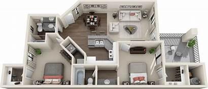 Bedroom Apartment Apartments Plans Floor Tucson York