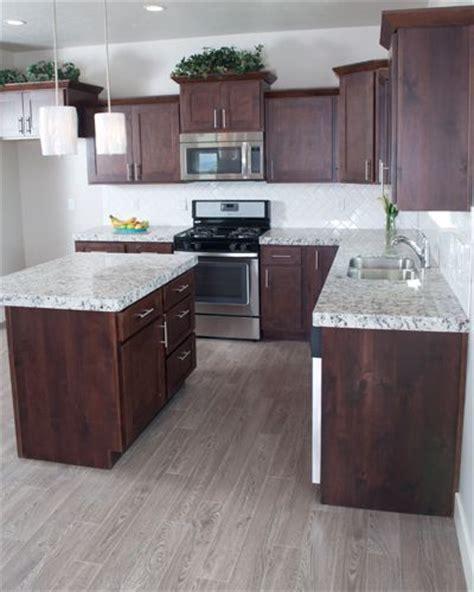 grey kitchen cabinets wood floor knotty alder cabinets mccoy flagship 2 0094 kitchen in