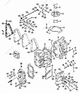 Mercury Force Outboard Parts By Hp  U0026 Serial 35hp Oem Parts Diagram For Power Head