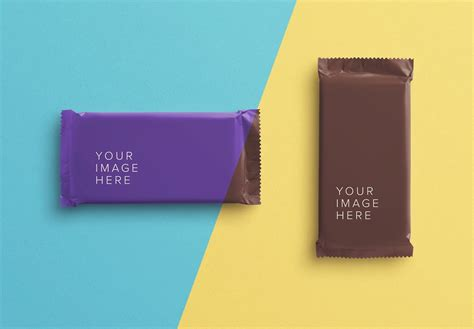 Free package mockup with an idea of how and when to use it in your branding. Chocolate Bar Mockup - Custom Scene