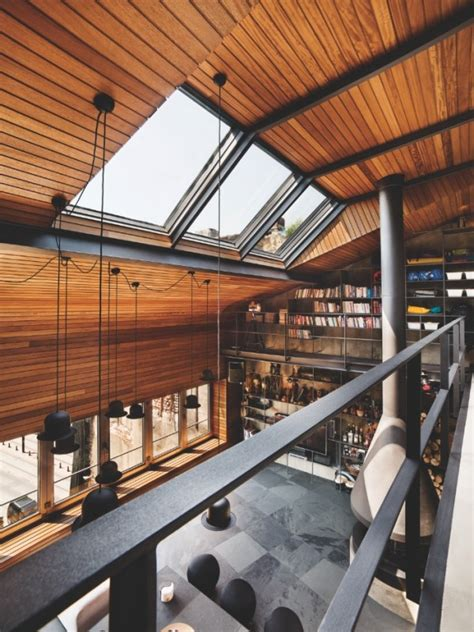 Karakoy Loft Uses Rich Wood Features And Creative Industrial Elements by Karakoy Loft Uses Rich Wood Features And Creative
