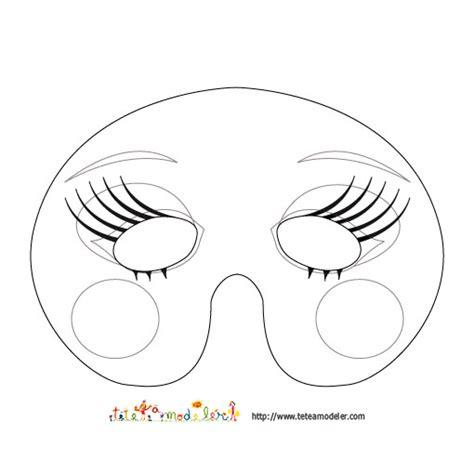 imprimer le mod 232 le du masque de fille 224 colorier masque t 234 te 224 modeler