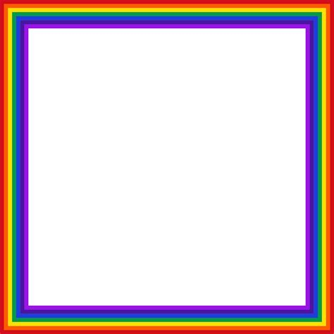 square clipart rainbow pencil and in color square