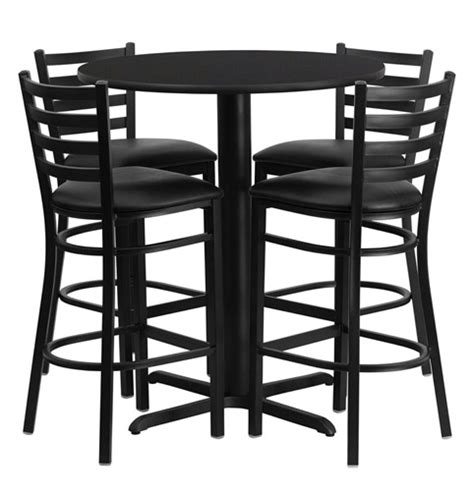 round bar table and chairs bar height round dining table set with 4 bar stool chairs