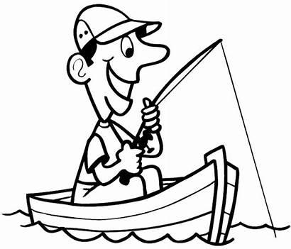 Fishing Boat Cartoon Line Drawing Decals Vinyl