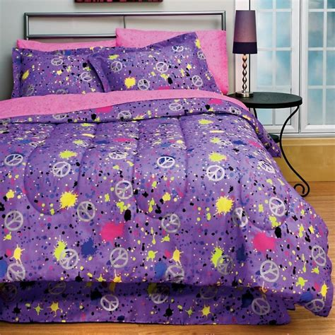 Domestications Bed In A Bag Peace Purple Bed In A Bag The Room