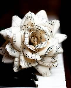 Sheet Music Upcycled Crafts