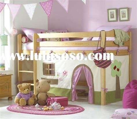 with play curtain loft bed set bunk bed wood bed for sale