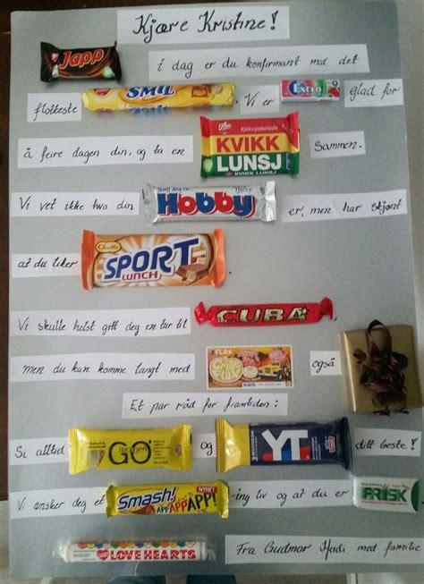 kort til konfirmanten ide godterikort konfirmasjonsgave