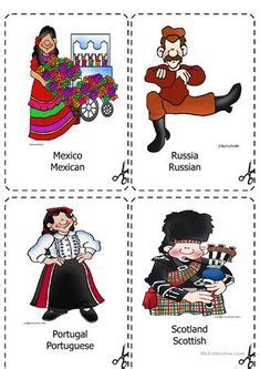 esl vocabulary country nationality images