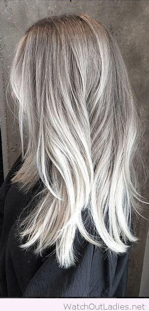 lovely silver highlights hair pinterest silver