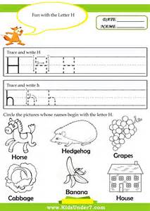 Letter H Tracing Worksheets Preschool