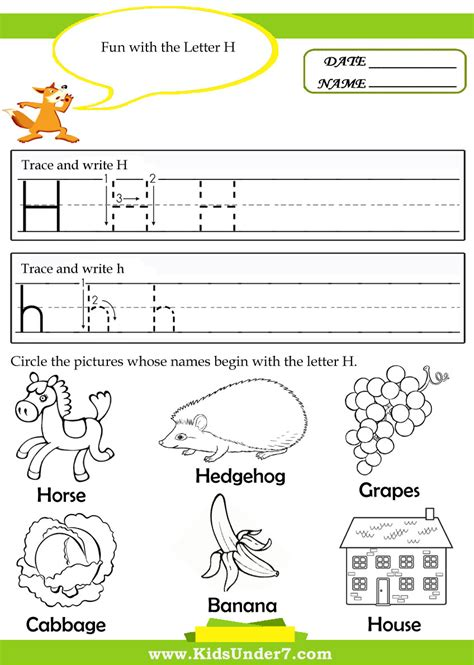 letter h worksheet preschool worksheets for all