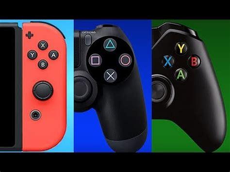 ps4 console vs xbox one ps4 vs xbox one vs nintendo switch console war 2018