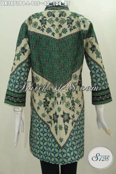 sedia  dress batik warna hijau kwalitas halus proses