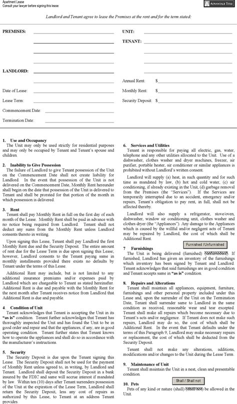 ny residential lease agreement rent and lease template template free speedy template