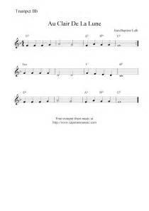 La AU Clair De Lune Sheet Music Trumpet