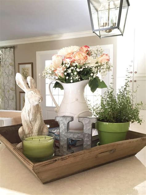 how to decorate your kitchen table spring decor pins from pinterest fresh flowers rabbit