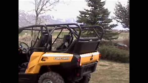 commander  seat  roll cage kit youtube