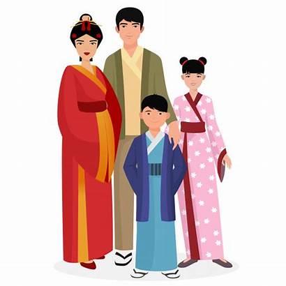Japanese Traditional Boy Woman Familia Ropa Japonesa