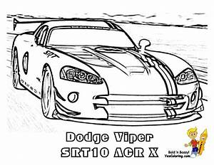 Dodge Viper - Free Colouring Pages