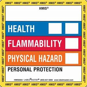 standard hazcom hmis label 4quot x 4quot paper labelmaster With hmis labels printable