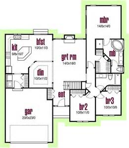 contemporary house plans contemporary style house plans 1700 square foot home 1 story 3 bedroom and 2 bath 2 garage