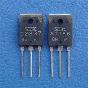 2SA1186 & 2SC2837 SANKEN Audio Power Transistor, x 2   eBay  Transistor