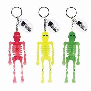 These fun colorful neon skeleton key chains are sure to