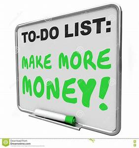Make More Money Increase Income Earnings To Do List Stock ...