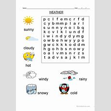 Wordsearch Weather Vocabulary Worksheet  Free Esl Printable Worksheets Made By Teachers
