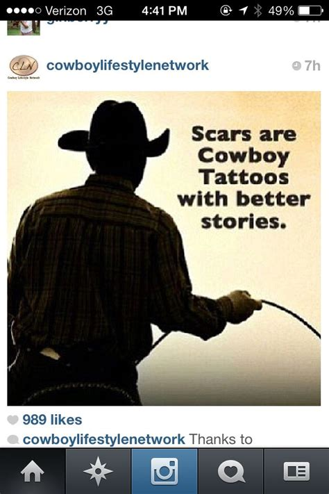 scars  cowboy tattoos   stories