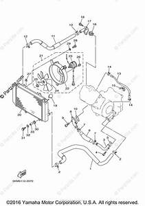 Yamaha Atv 2003 Oem Parts Diagram For Radiator Hose