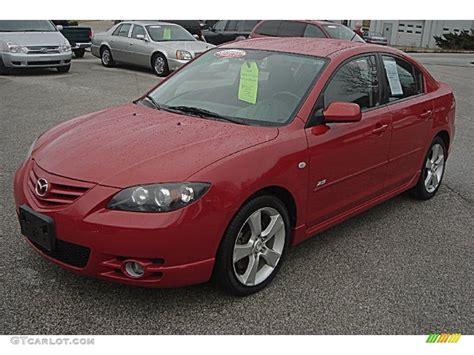 2005 Velocity Red Mica Mazda Mazda3 S Sedan #57486835