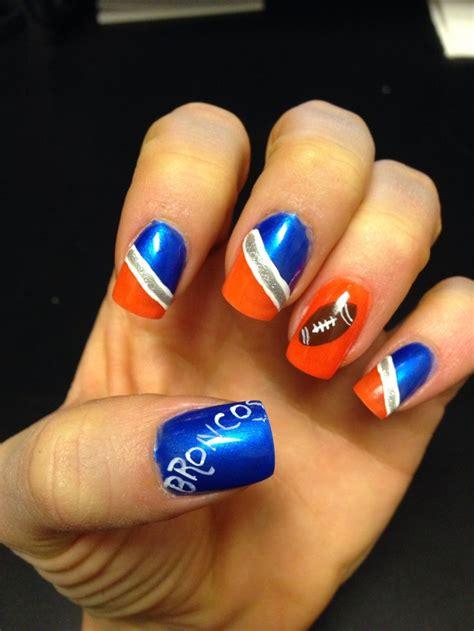 denver broncos nail designs denver broncos football nail for bowl painted