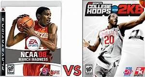 Screenshot comparison: March Madness 08 vs College Hoops ...