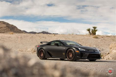 satin black lexus lfa stuns  vossen wheels gtspirit