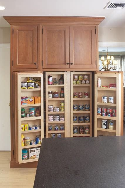 interior  large pantry cabinet eclectic kitchen